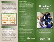 Ultra Rice Technology - Expanding Markets for Fortified Rice ... - Path