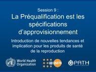 Session 9 - La Préqualification est les spécifications d ... - Path