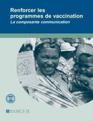 Renforcer les programmes de vaccination: La composante ... - Path