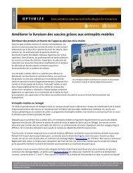 Améliorer la Livraison des Vaccins Grâces aux Entrepôts ... - Path