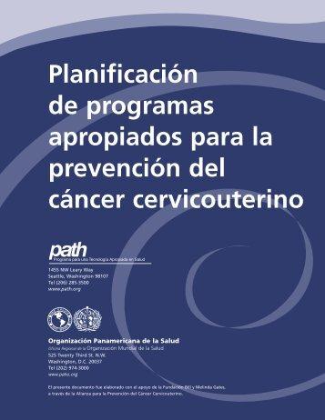 Planificación de programas apropiados para la prevención del ...