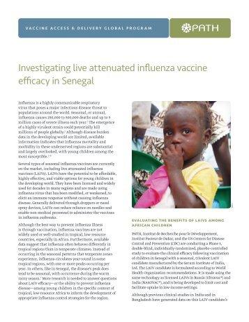 Investigating Live Attenuated Influenza Vaccine Efficacy in ... - Path