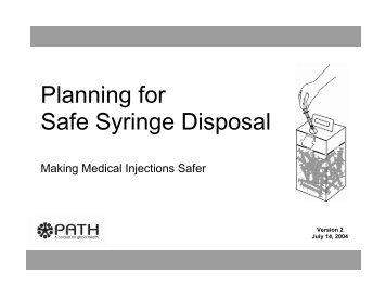 Planning for Safe Syringe Disposal (Part 1: main steps) - Path