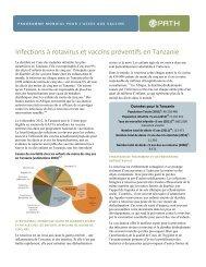 Infections à Rotavirus et Vaccins Préventifs en Tanzanie - Path