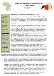 AFRICAN ROTAVIRUS SURVEILLANCE NEWSLETTER - Path