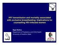 Implications for counselling HIV-infected women - Path