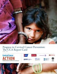 Progress in Cervical Cancer Prevention: The CCA Report Card - Path