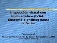 Inspección visual con ácido acético (IVAA): Sustento científico ... - Path