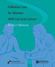 Palliative Care for Women With Cervical Cancer - IARC Screening ...