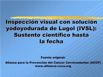 Inspección visual con solución yodoyodurada de Lugol (IVSL ...