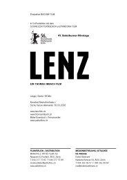 41. Solothurner Filmtage - Pathé Films AG Zürich