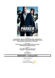KINOSTART: 7. Februar 2013 - Pathé Films AG Zürich