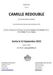 CAMILLE REDOUBLE - Pathé Films AG Zürich