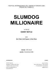 SLUMDOG MILLIONAIRE - Pathé Films AG Zürich