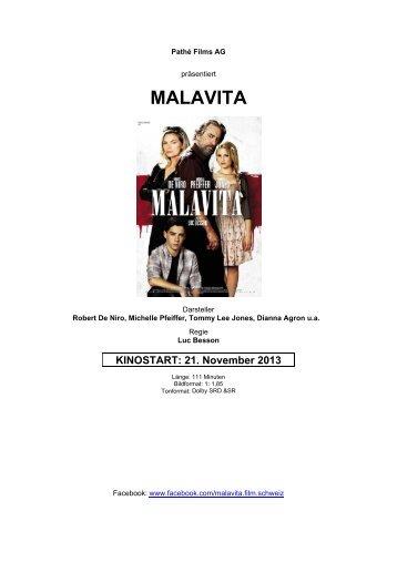 MALAVITA - Pathé Films AG Zürich