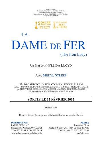 (The Iron Lady) - Ciné-club éducatif & culturel de Mons