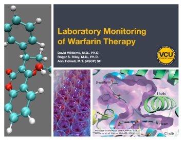 Laboratory Monitoring of Warfarin Therapy - Pathology