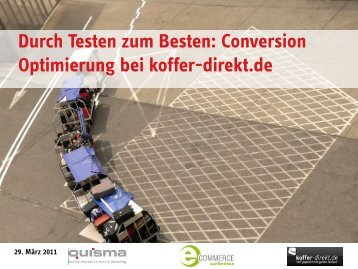 Optimierung auf Conversion-Rate - eCommerce Conference