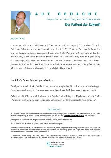 Der Patient der Zukunft - NÖ Patienten