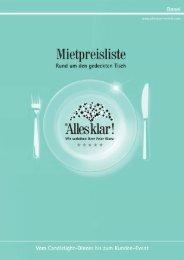 Preisliste (Stand vom 02.01.2012) Alles klar! Basel