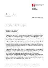 Brief an alle ÄrztInnen betreffend ELGA
