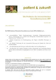 Die Probleme des österreichischen ... - NÖ Patienten