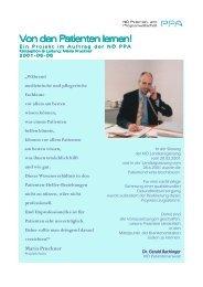 PPA Projekt - Von den Patienten lernen! - NÖ Patienten