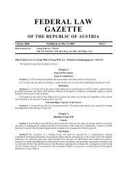 FEDERAL LAW GAZETTE OF THE REPUBLIC OF AUSTRIA ...