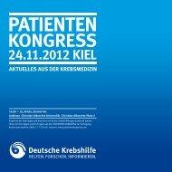 Programme PATIENTEN KONGRESS Kiel - Haus der Krebs ...