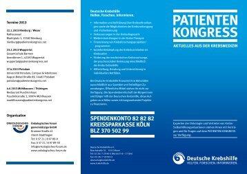 Terminflyer 2013 - Onkologisches Forum