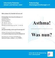 Asthma! Was nun? - Patientenliga Atemwegserkrankungen e.V.
