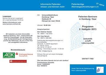 Programm 2. Halbjahr 2012