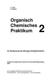 Organisch Chemisches Praktikum 2 - Institut für Organische Chemie ...
