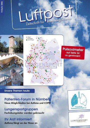 Ausgabe Frühjahr - 2006 - Patientenliga Atemwegserkrankungen e.V.