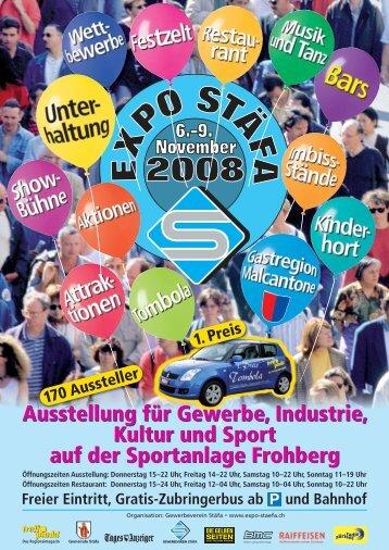 Ausstellung für Gewerbe, Industrie, Kultur und Sport auf ... - Expo Stäfa