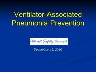 Ventilator-Associated Pneumonia Prevention - Patientsafetycouncil ...
