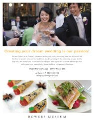 Wedding Packages - The Patina Group