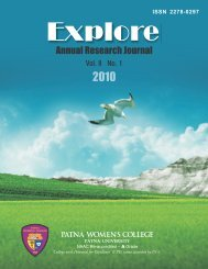 Explore : Annual Research Journal 2010 Vol. II No. 1