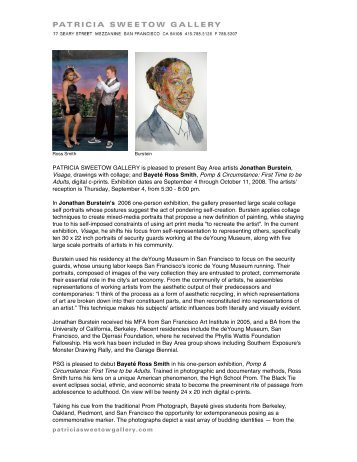 Read Burstein/Ross Smith Press Release - Patricia Sweetow Gallery