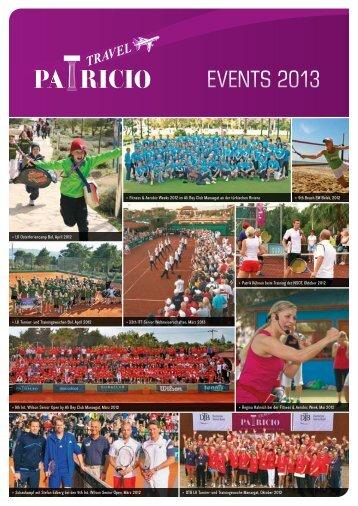 EVENTS 2013 - Patricio Sport Events