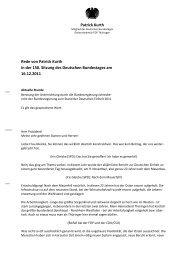 Rede als Wortprotokoll - Patrick Kurth, MdB