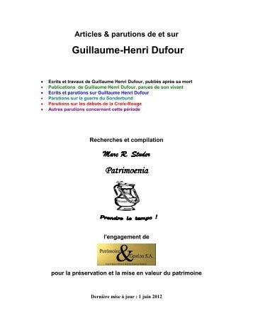 Guillaume-Henri Dufour Patrimoenia Patrimoenia