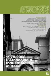 1978-2008. L'Archeologia Industriale in Italia - Associazione Italiana ...