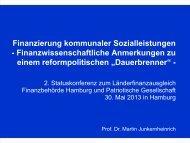 Finanzierung kommunaler Sozialleistungen - Patriotische ...