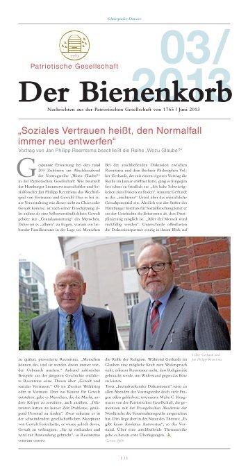 Bienenkorb 03/2013. Schwerpunkt: Demenz (PDF) - Patriotische ...