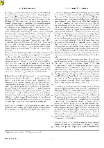 XXII Ad Eustochium 1. Â« Audi, filia, et vide et inclina ... - Patristique.org