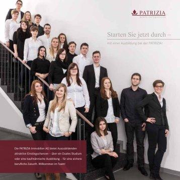 Starten Sie jetzt durch – - PATRIZIA Immobilien AG