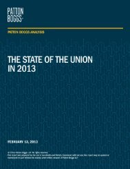 State of the Union - Patton Boggs