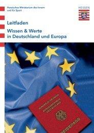 Leitfaden Wissen und Werte in Deutschland und Europa