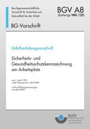 BGV A8: Sicherheits- und ... - Paul-Orzessek.de
